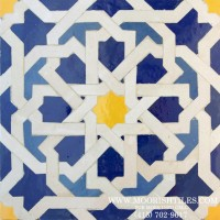 White Moroccan Tile Backsplash