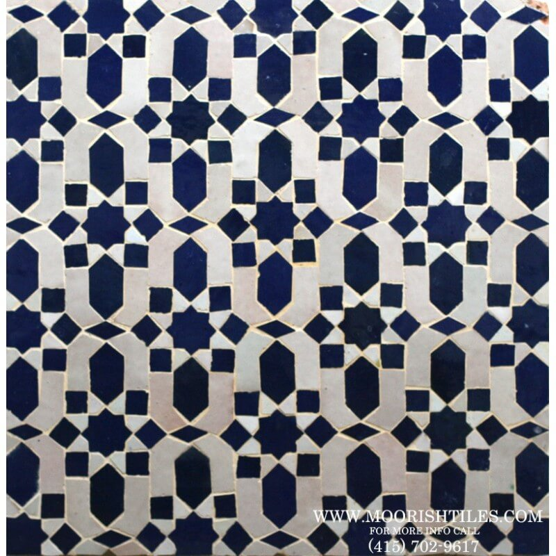 Moroccan shower tile