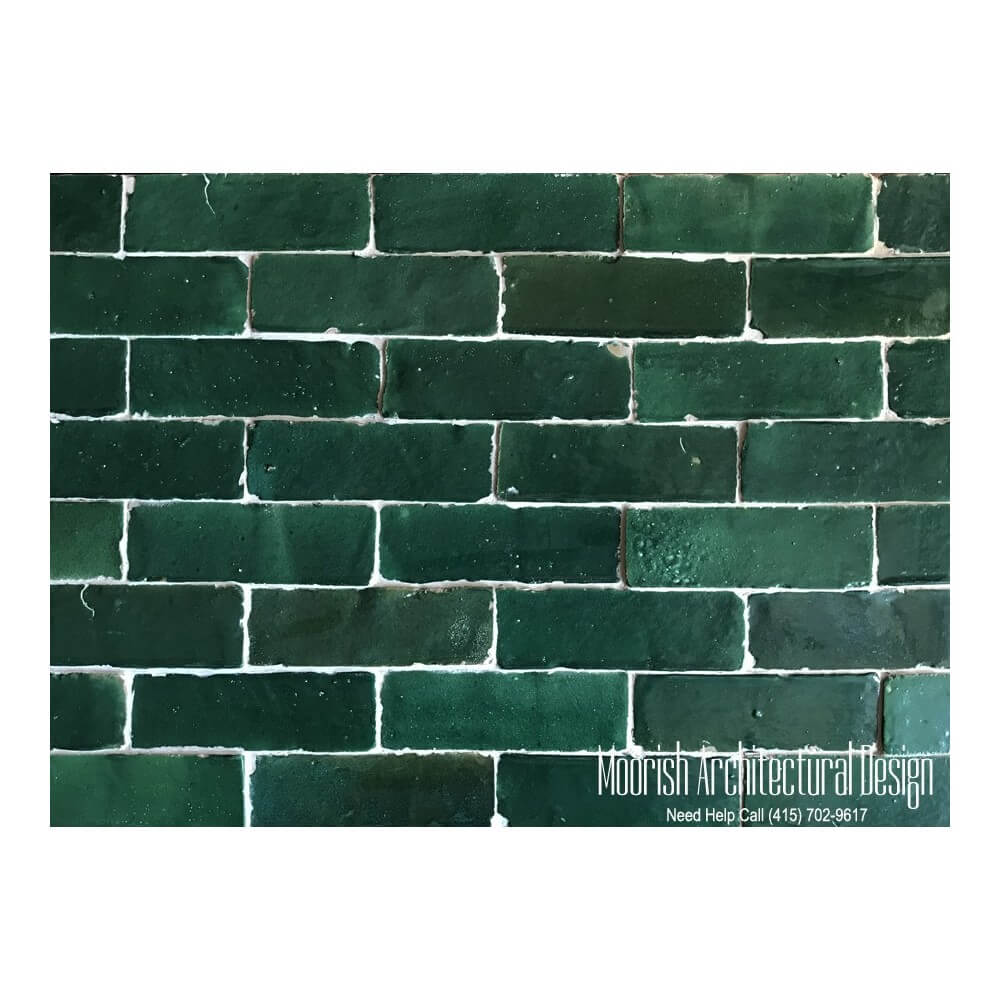 Green Moroccan Subway Tiles Green Bejmat