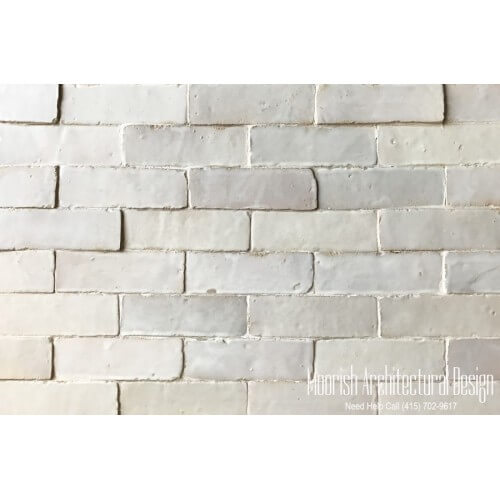 White Moroccan Subway Tiles