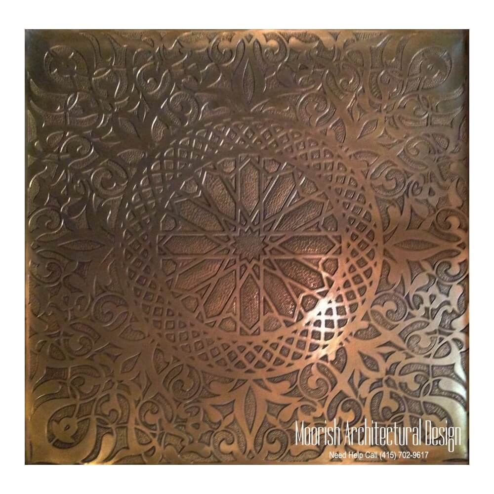 Custom Decorative Cabinet Inserts Moorish Metal Cabinet