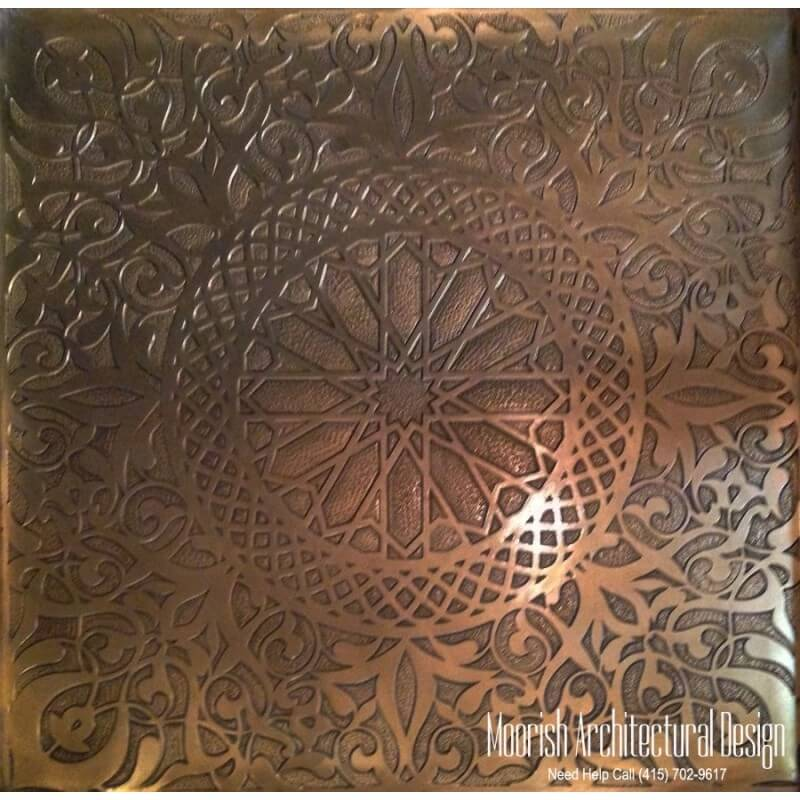 Moroccan filigree panel