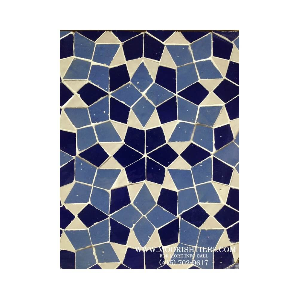 Blue Moroccan Mosaic Tile Moorish Pool Tiles