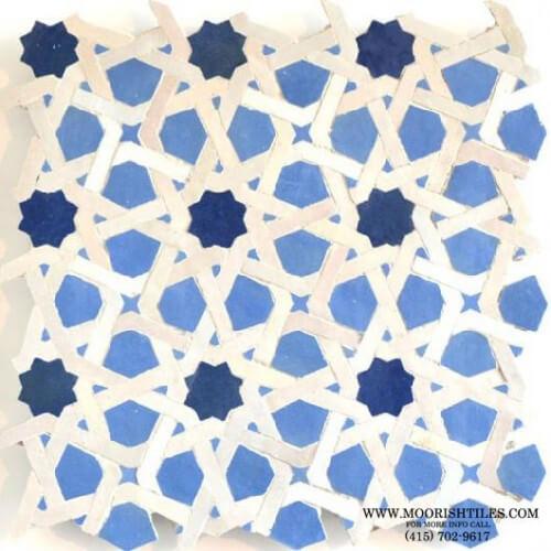 Moroccan pool deck tile