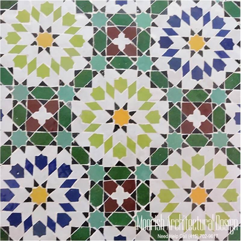 Moorish bathroom wall tile