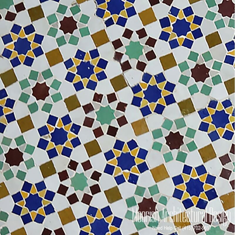 Islamic Tile Patterns | Moroccan shower tile | Zillij Mosaic