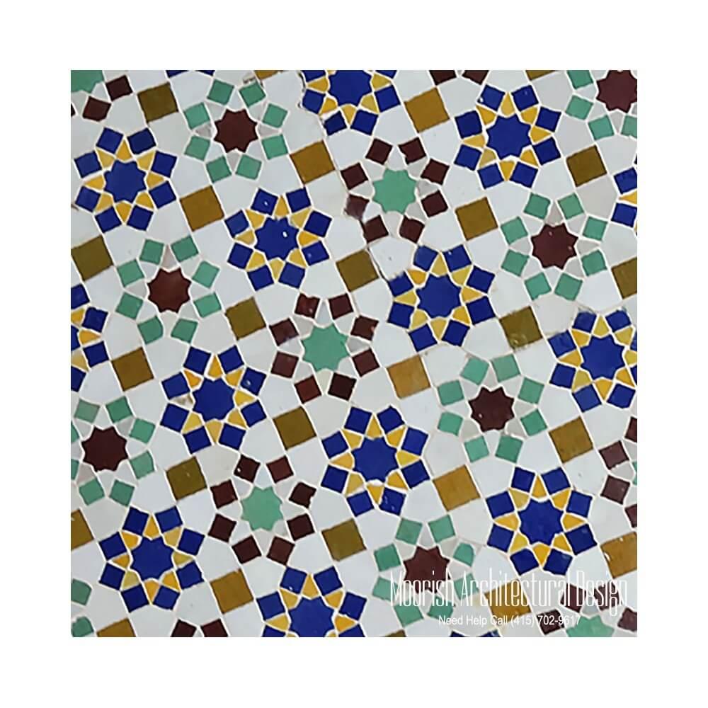 Islamic Tile Patterns Moroccan Shower Tile Zillij Mosaic