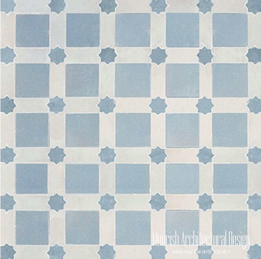 Moroccan ceramic floor tiles | Moorish Tile | Zellige Mosaic