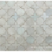 White Moroccan Pool Tile