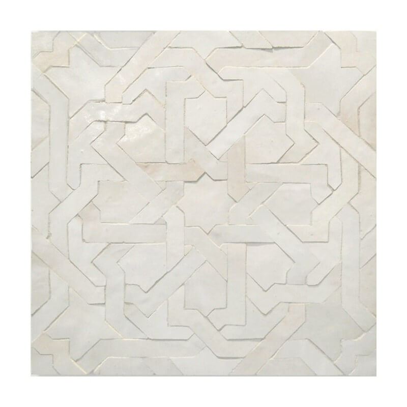 White Moroccan Pool Tile New York