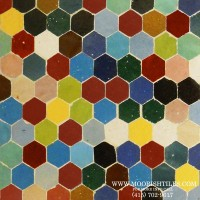 Multi color Hexagone Tiles