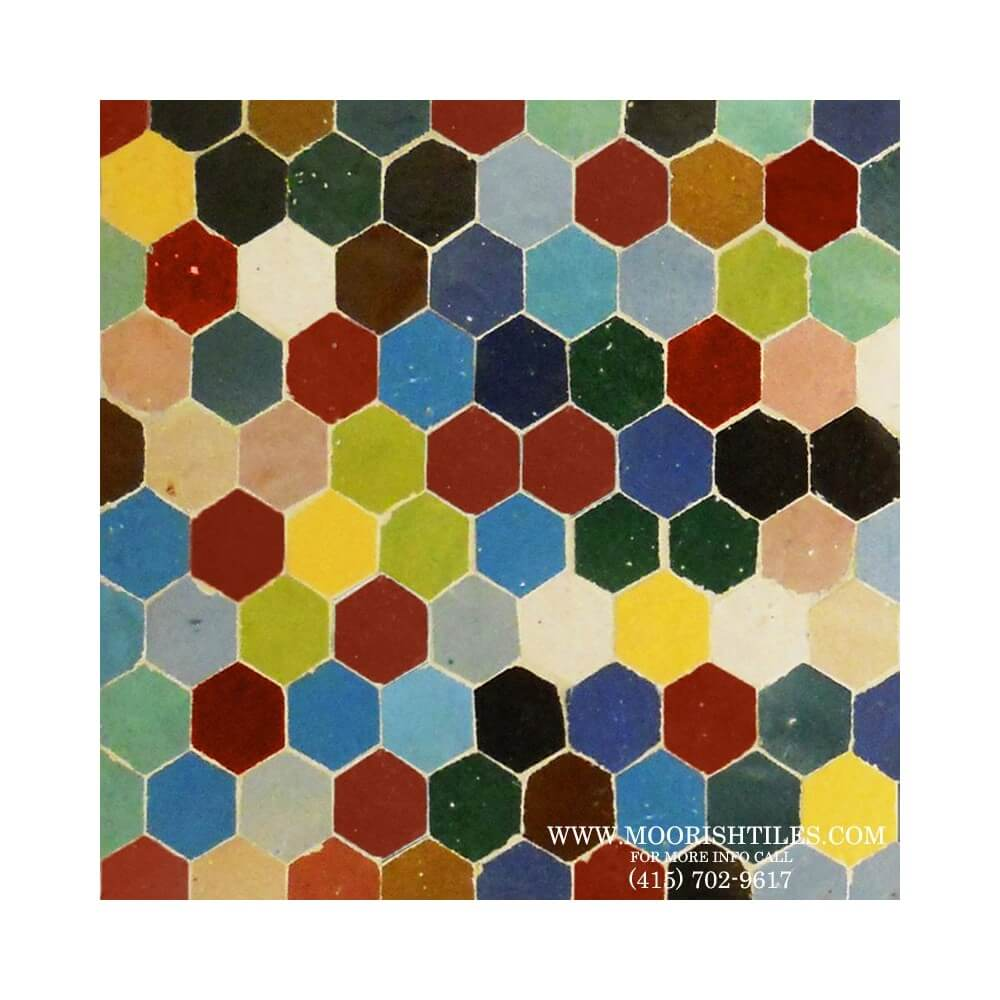 Hex Ceramic Tiles Moroccan Ceramic Tile Mosaic Hexagon Tile