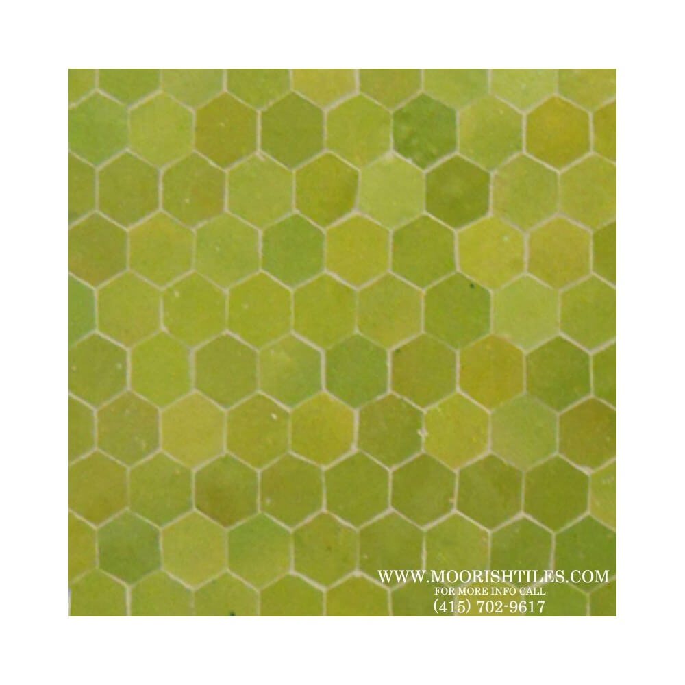 Green Hexagon Mosaic Tile Kitchen Tile