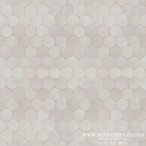 White Hexagon Tile