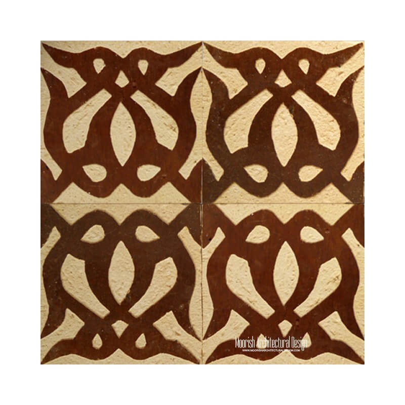 Rustic Moorish Shower Tile