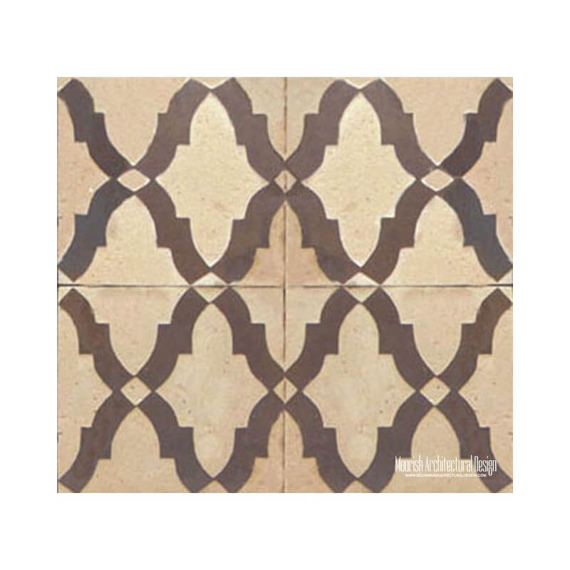 Rustic Moorish wall tile