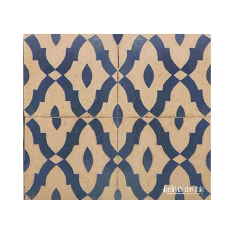 Rustic Moorish ceramic tile