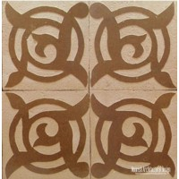 Rustic Moroccan wall tile