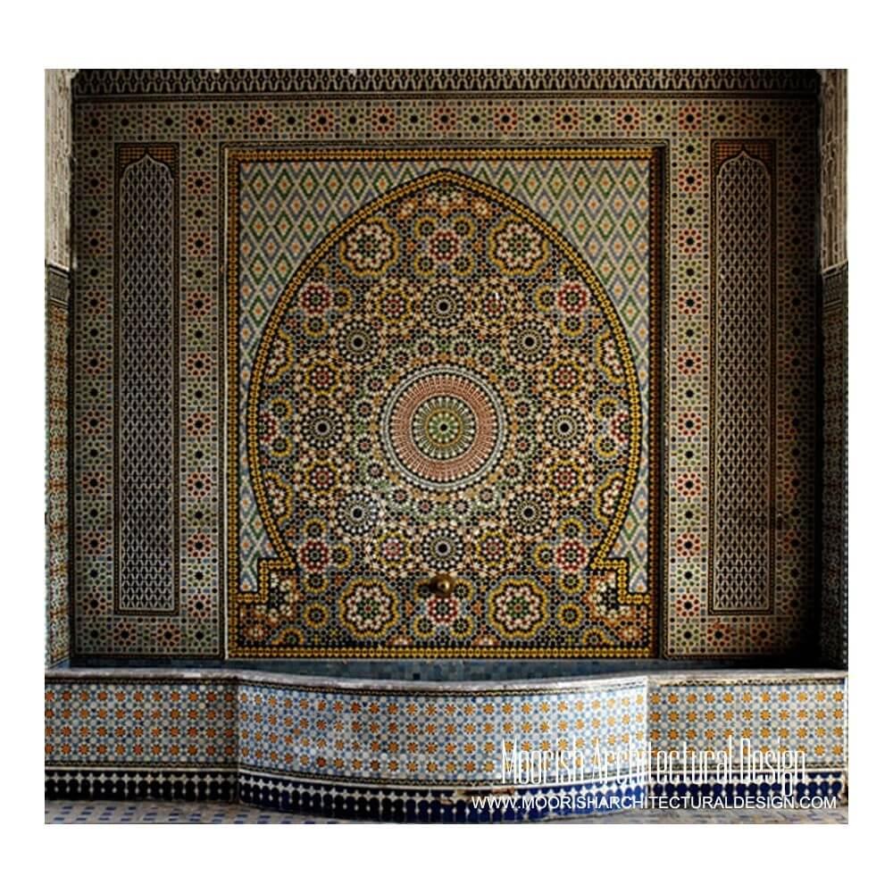 Moroccan Fountains Moorish Wall Fountain Spanish Tile