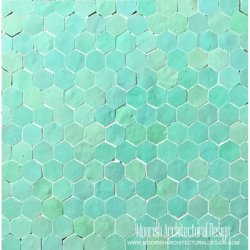 Aqua Green Hexagone Tiles