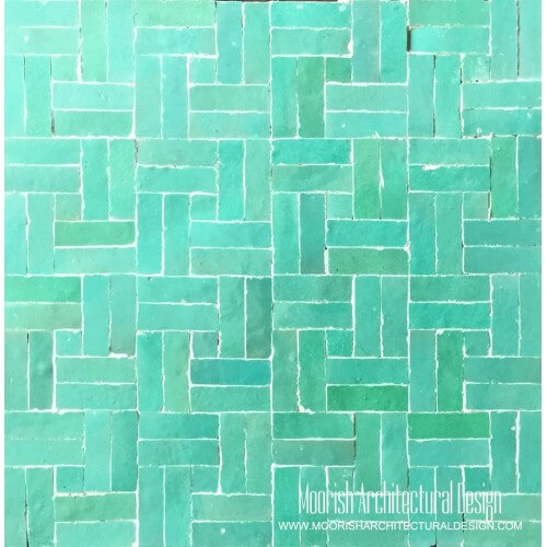 Aqua Green basket weave Tile