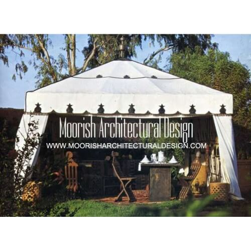 Moroccan pool tent
