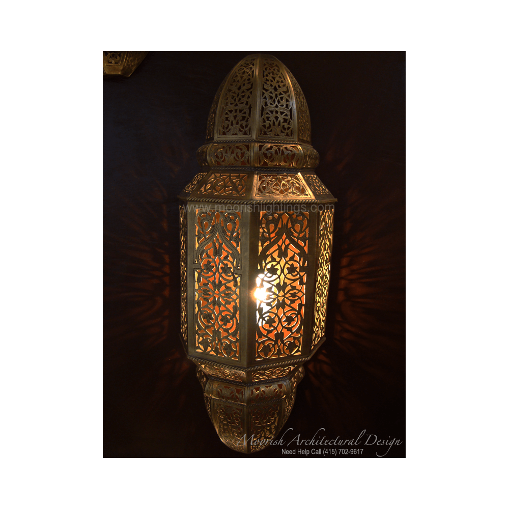 Ethnic Lighting Rustic Wall Sconce Punched Metal