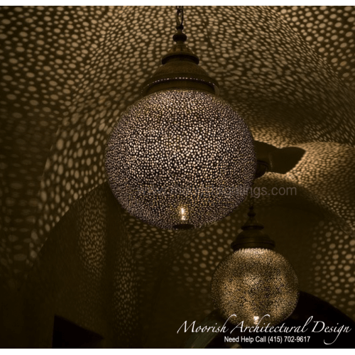 Modern Moroccan Pendant 33
