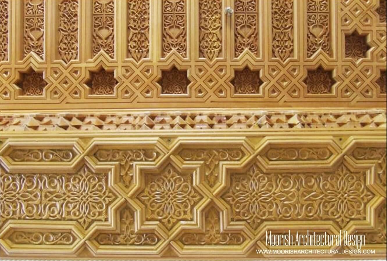 Moroccan decorative wood mouldings - Moorish crown molding