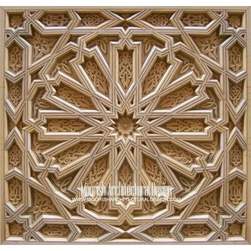 Moroccan Carved Wood Panel 09