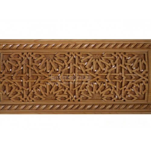 Moroccan Carved Wood Panel 10