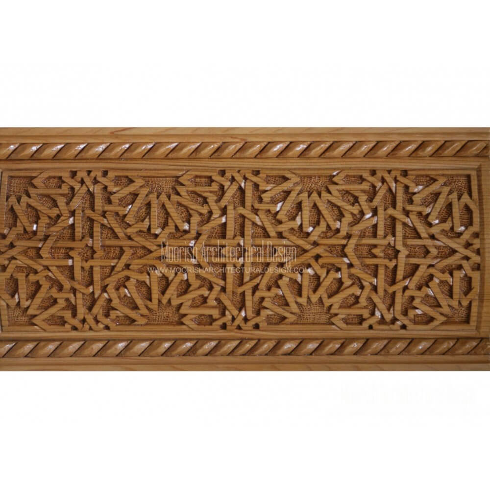 Moroccan Carved Wood Border Moorish Design Molding