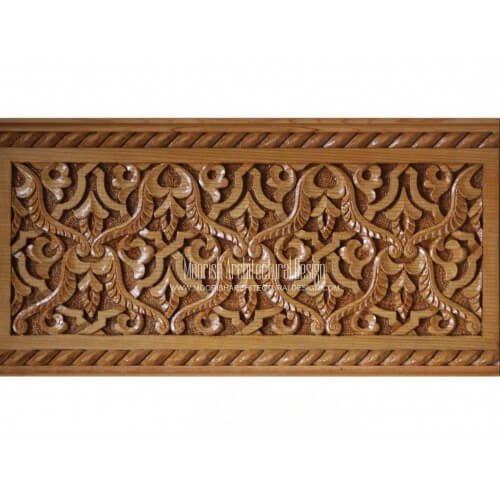 Moroccan Carved Wood Panel 11