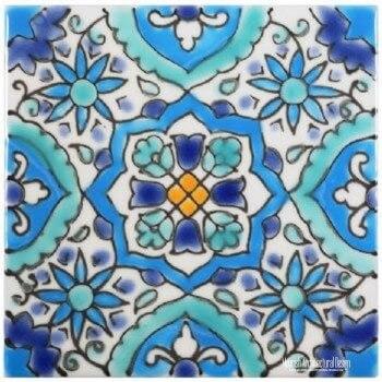 Swimming Pool Waterline Tiles - Mediterranean Spanish Pool Tiles